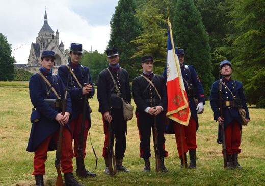 Membres de l'association du Poilu de la Marne