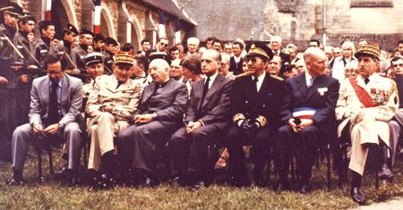Comte Jean de La ROCHEFOUCAULD à la cérémonie du 8 juillet 1979