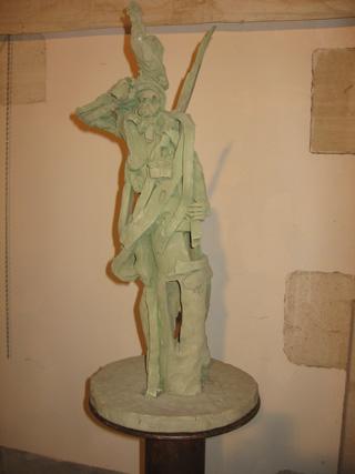 Le sculpteur Patrice ALEXANDRE au mémorial de Dormans.