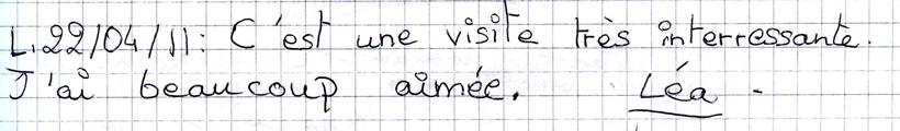 Mots laissés par les visiteurs du Mémorial de Dormans 11