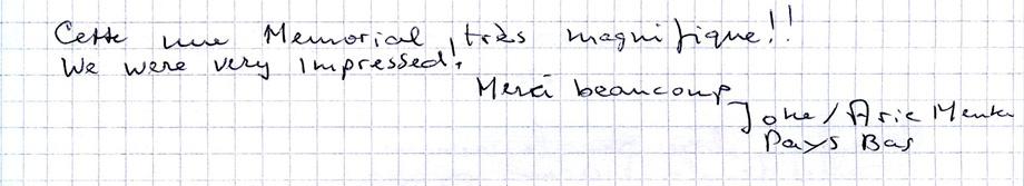 Mots laissés par les visiteurs du Mémorial de Dormans 8