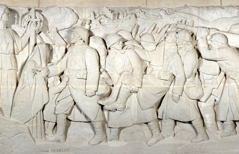 Pano Pilier Droite Entrée 1914-1918, Mémorial de Dormans