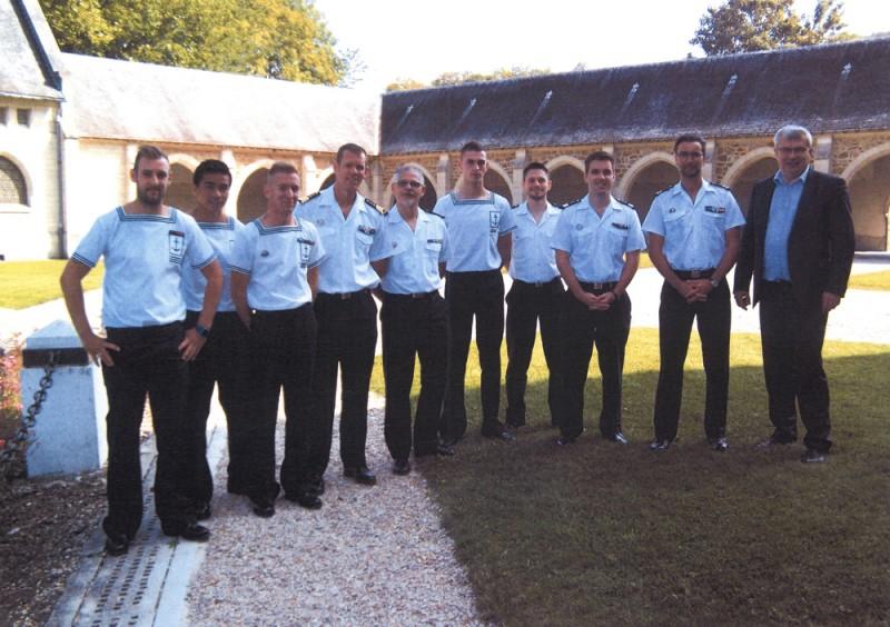 Marine Le BCR « LA MARNE » en visite au mémorial