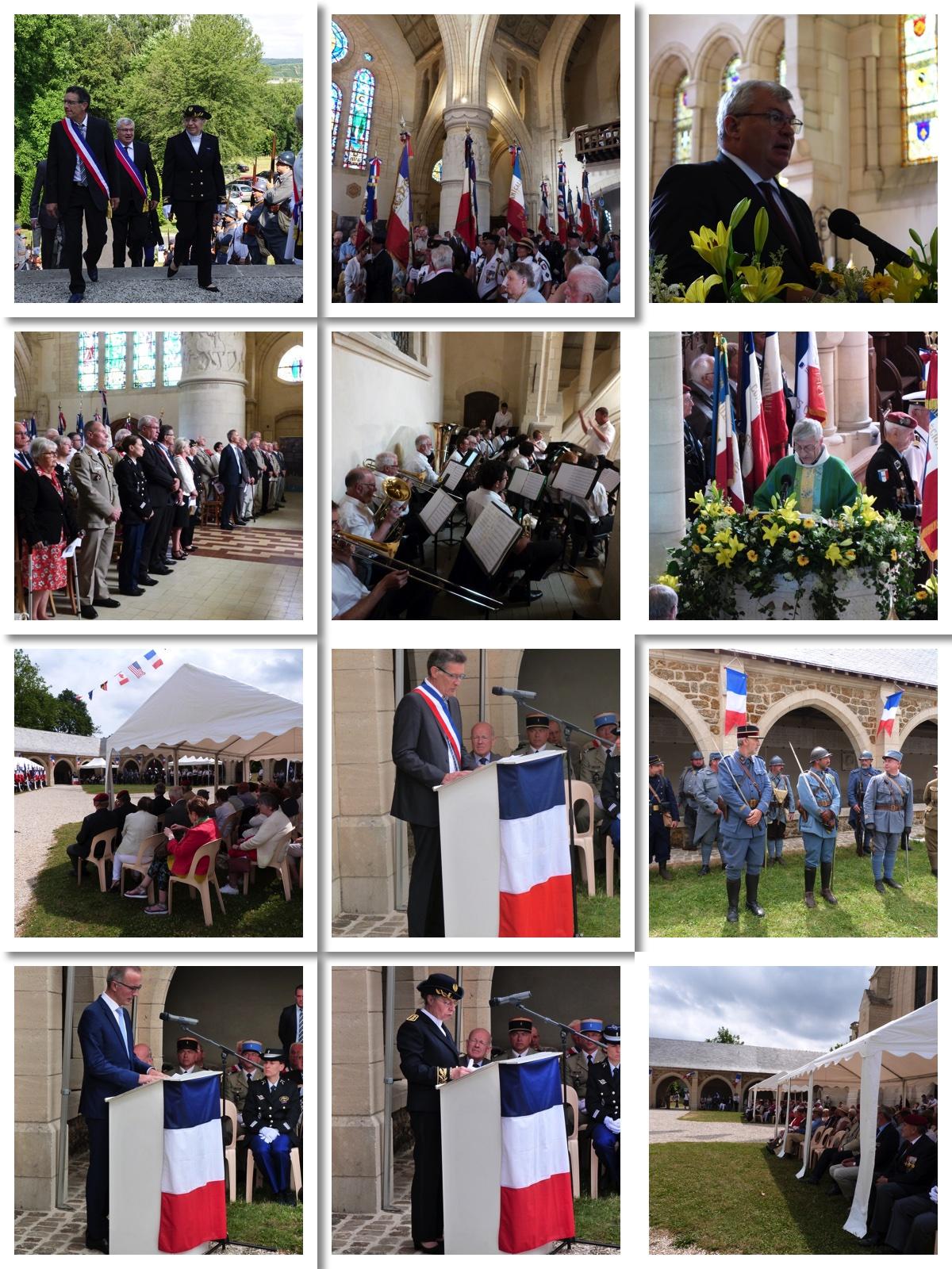 la 100e fête de la chapelle au Mémorial de Dormans le 7 juillet 2019