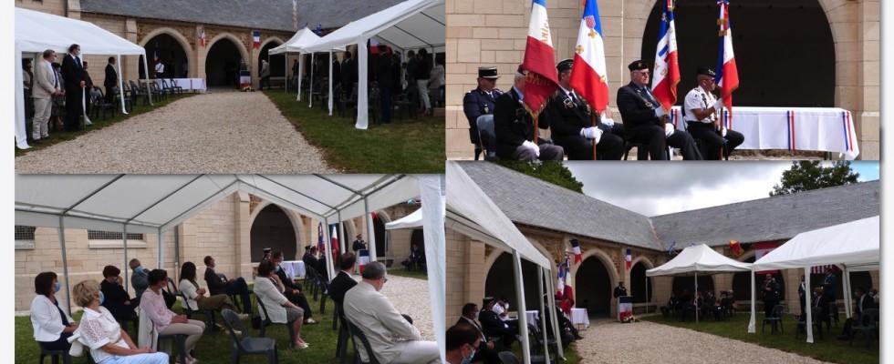 La cérémonie : l'assistance réduite par le protocole sanitaire.